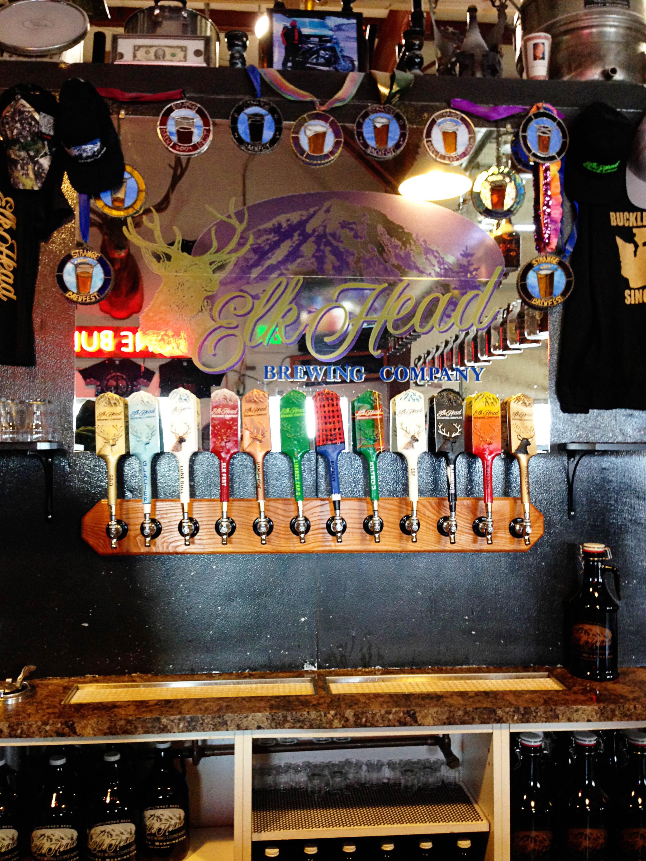 Elk Head Brewery Tap Handles
