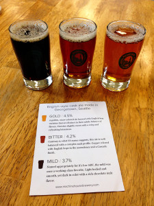 Machine House Brewery three brews