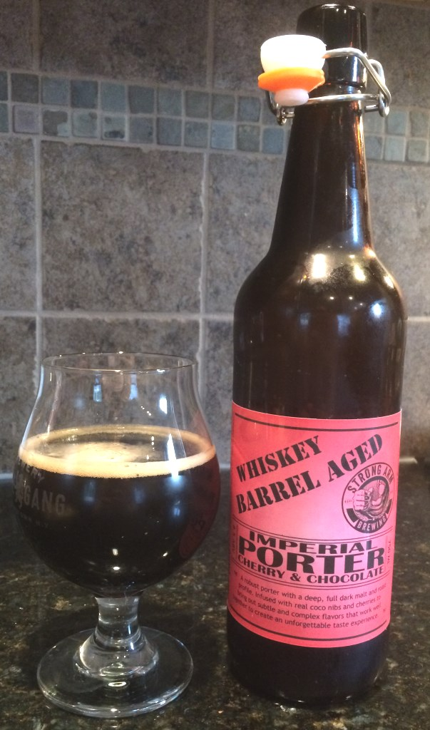 Strong Arm Brewing Whiskey Barrel Aged Cherry Chocolate Imperial Porter