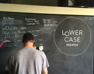 Lowercase Brewing tap board